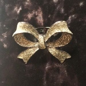 Betsey Johnson Vintage Sparkly Bow Ring